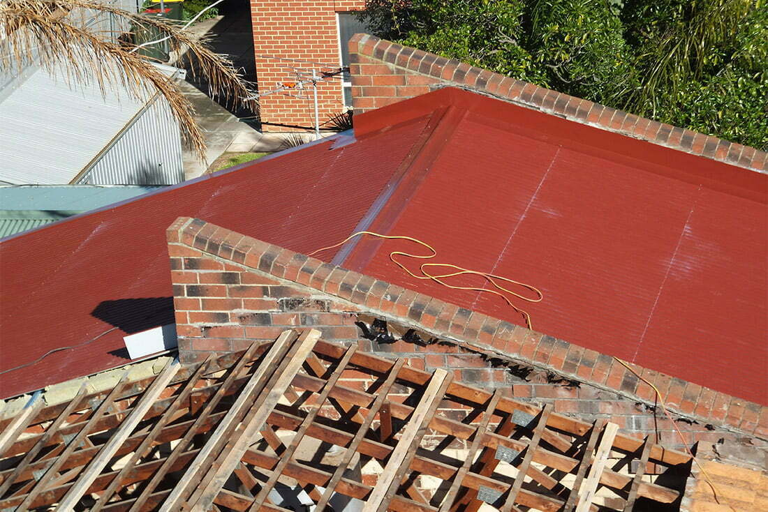 tile to iron roof conversion
