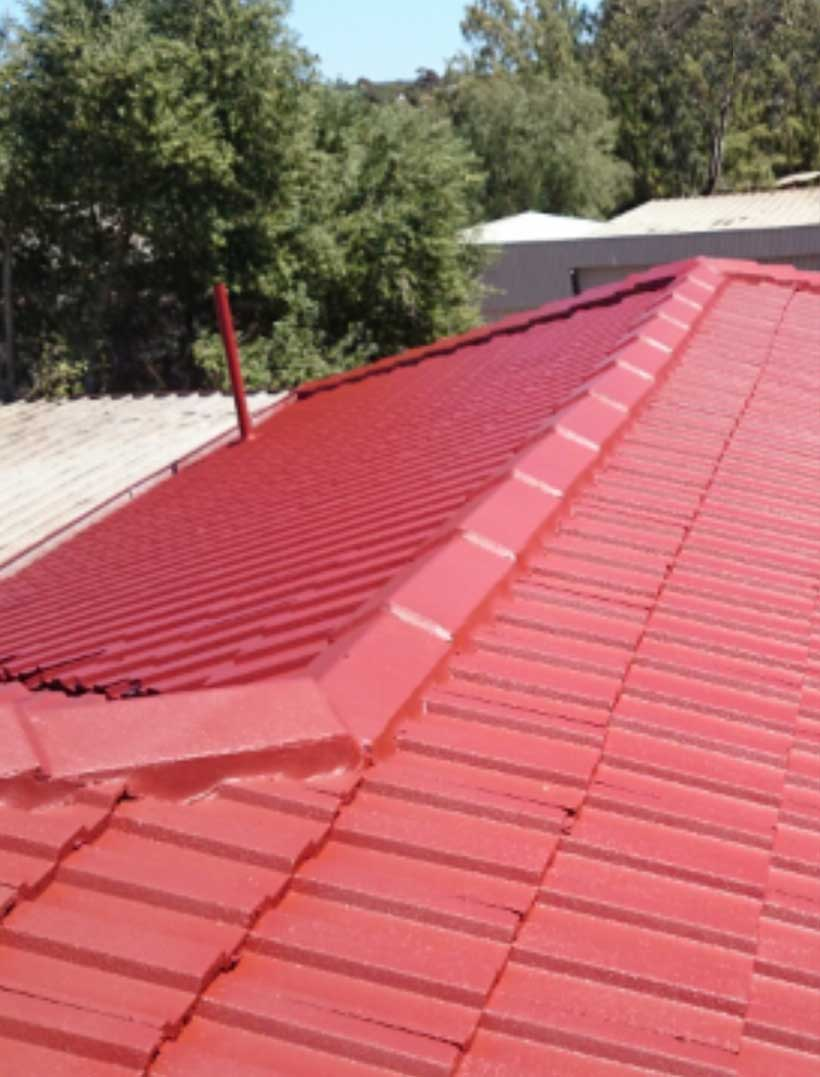 Completed Roof With Paint