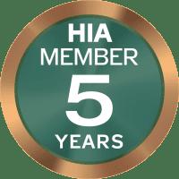 HIA member 5 years